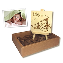 Personalized wooden photo portrait